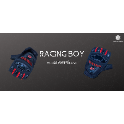 RACING BOY HALF FINGER GLOVE MC24D (100% ORIGINAL)