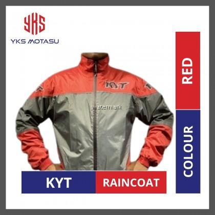 KYT World Class Racing MOTORCYCLE WATERPROOF RAINCOAT RED