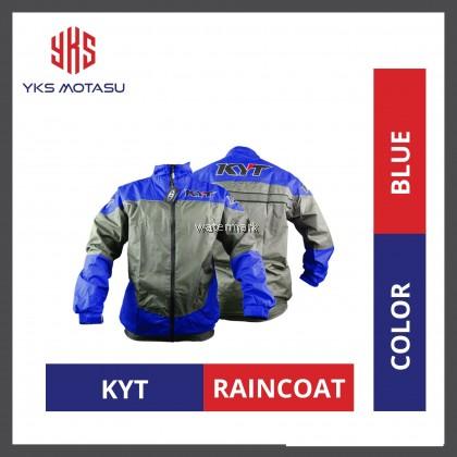KYT World Class Racing MOTORCYCLE WATERPROOF RAINCOAT BLUE