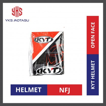 KYT NFJ HONDA  Black/Red/Grey Double Visor Open Face Helmet SPECIAL EDITION
