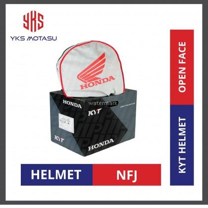 KYT NFJ CASC HONDA TRICO WHITE/RED/BLUE Double Visor Open Face Helmet (SPECIAL EDITION)