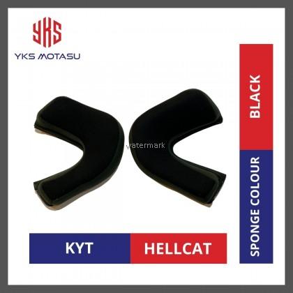 KYT HELLCAT SPONGE COLOUR BLACK 100% ORIGINAL