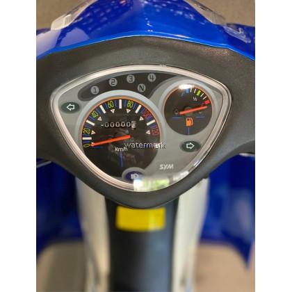 SYM E BONUS 110CC MULTI COLOUR BLUE & WHITE (INTERCHANGE NEW BIKE V2647) YEAR 2015